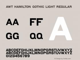 AWT Hamilton Gothic Light