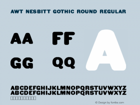 AWT Nesbitt Gothic Round