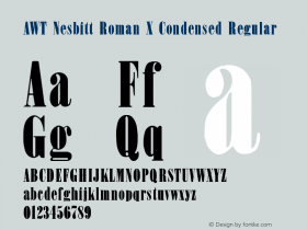 AWT Nesbitt Roman X Condensed