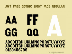 AWT Page Gothic Light Face