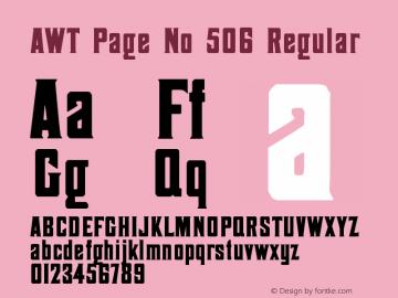 AWT Page No 506
