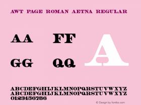 AWT Page Roman Aetna