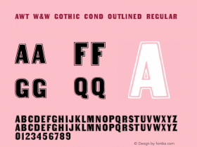 AWT W&W Gothic Cond Outlined