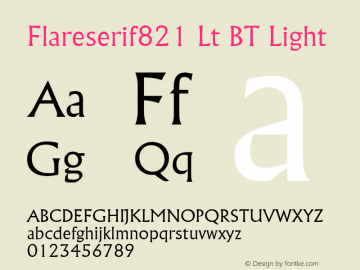 Flareserif821 Lt BT