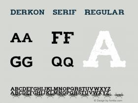Derkon Serif