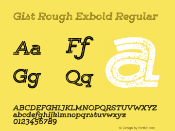 Gist Rough Exbold