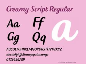 Creamy Script