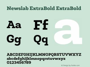 Newslab ExtraBold