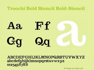 Trocchi Bold Stencil