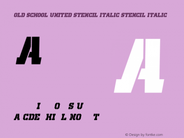Old School United Stencil Italic