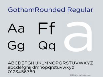 GothamRounded