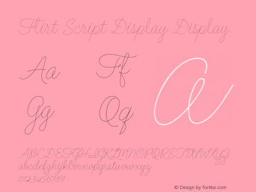 Flirt Script Display