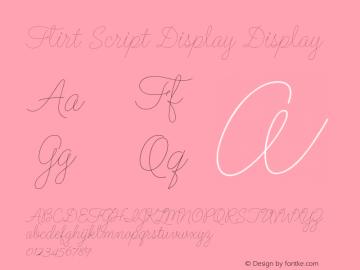 Flirt Script Display