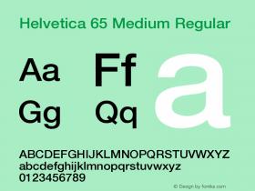 Helvetica 65 Medium