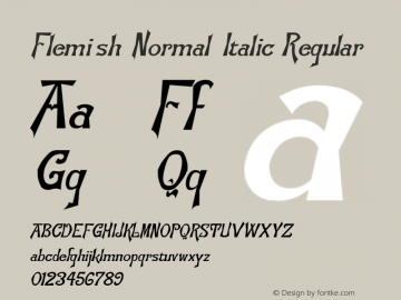 Flemish-Normal-Italic
