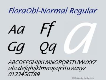 FloraObl-Normal