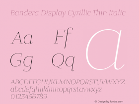 Bandera Display Cyrillic Thin