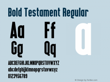 Bold Testament