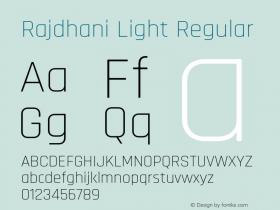 Rajdhani Light