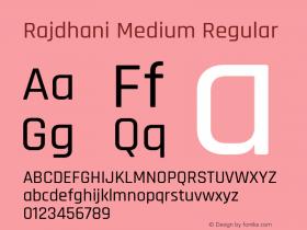 Rajdhani Medium