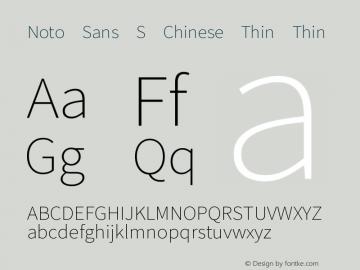 Noto Sans S Chinese Thin