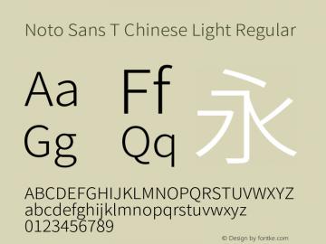 Noto Sans T Chinese Light