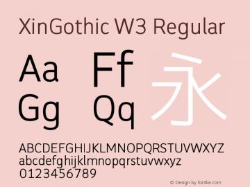 XinGothic W3