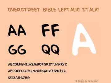 Overstreet Bible Leftalic