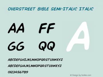 Overstreet Bible Semi-Italic