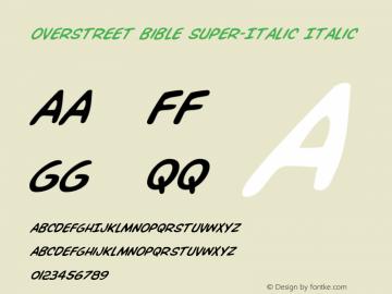 Overstreet Bible Super-Italic
