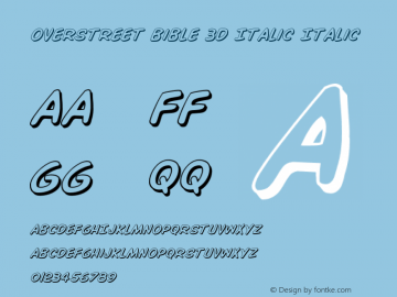 Overstreet Bible 3D Italic