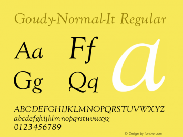 Goudy-Normal-It