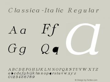 Classica-Italic
