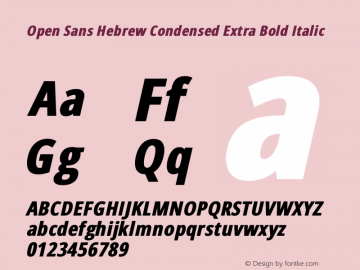 Open Sans Hebrew Condensed Extra Bold