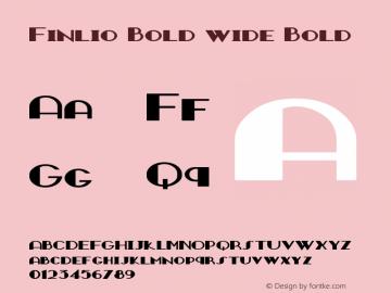 Finlio Bold wide