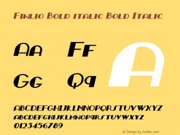 Finlio Bold italic