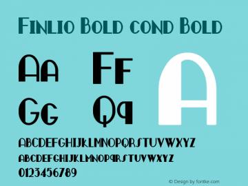 Finlio Bold cond