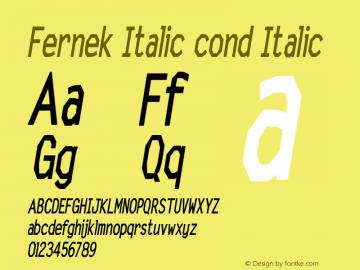 Fernek Italic cond