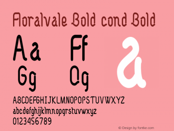 Floralvale Bold cond