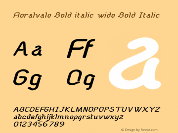 Floralvale Bold italic wide