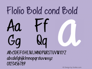 Flolio Bold cond