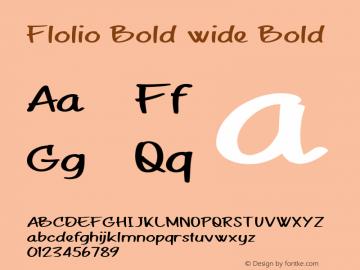 Flolio Bold wide