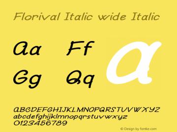Florival Italic wide