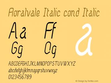Floralvale Italic cond