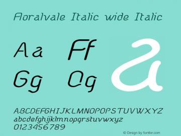 Floralvale Italic wide