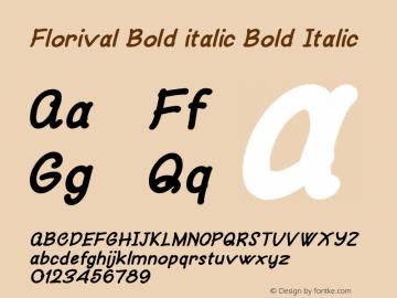 Florival Bold italic
