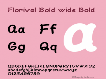 Florival Bold wide