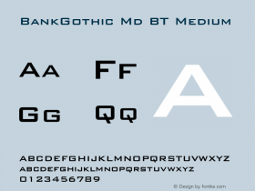 BankGothic Md BT