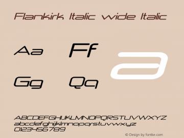 Flankirk Italic wide