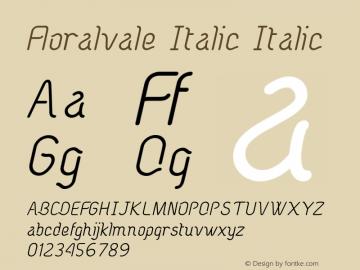 Floralvale Italic